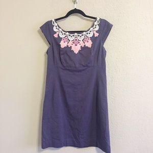 Lilly Pulitzer Navy Blue/Pink Allura Dress Size 8